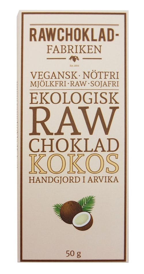 Rawchokladfabriken Kokos, 50 g