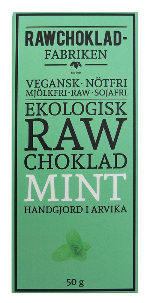Rawchokladfabriken Mint, 50 g