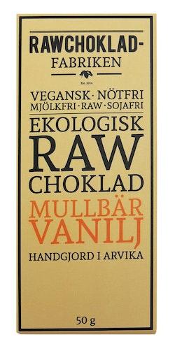 Rawchokladfabriken Mullbär Vanilj, 50 g