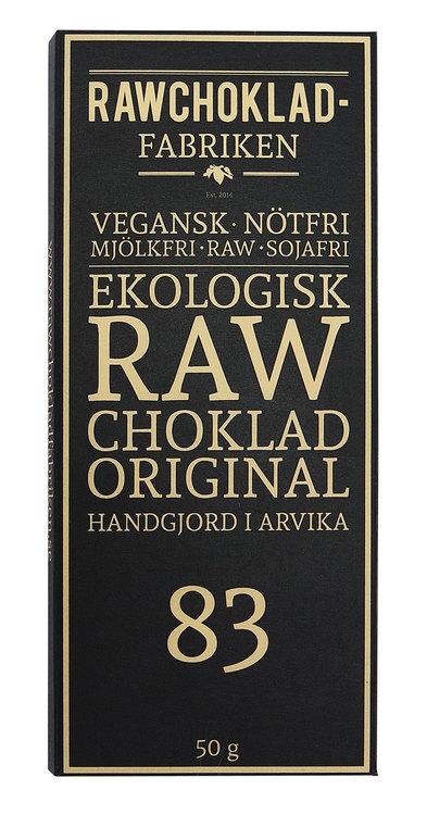 Rawchokladfabriken Original 83%, 50 g