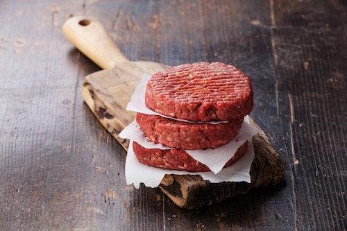 Hamburgerfärs, högrev (107 kr/kg)