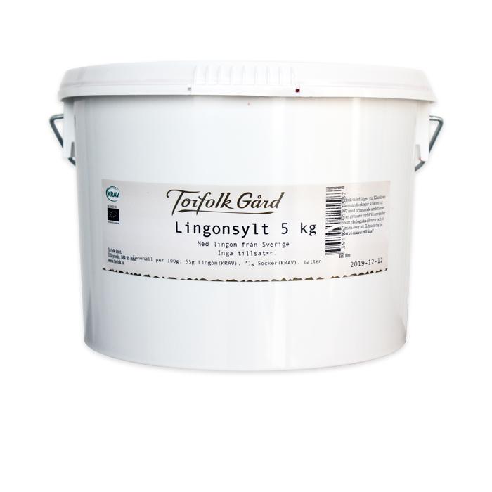 KRAV Torfolk Lingonsylt hink 5 kg
