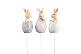 Kaniner i ägg/stick