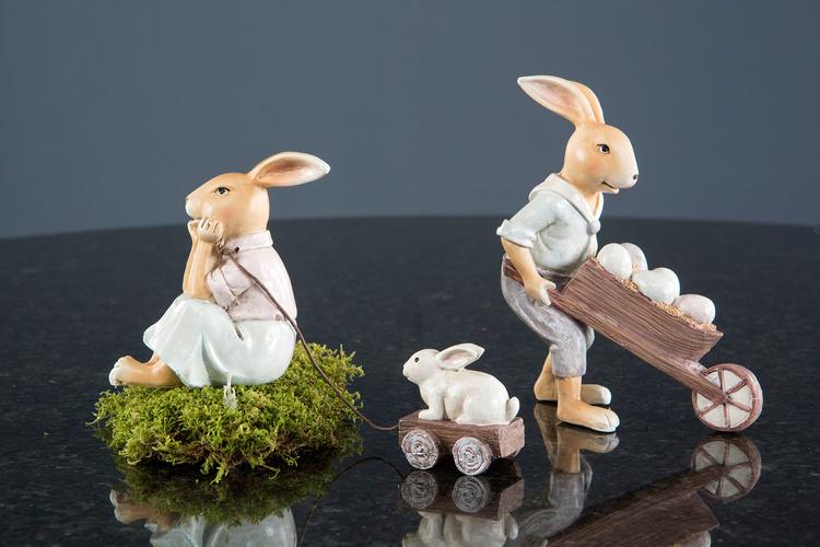Kaninpar kärra & vagn