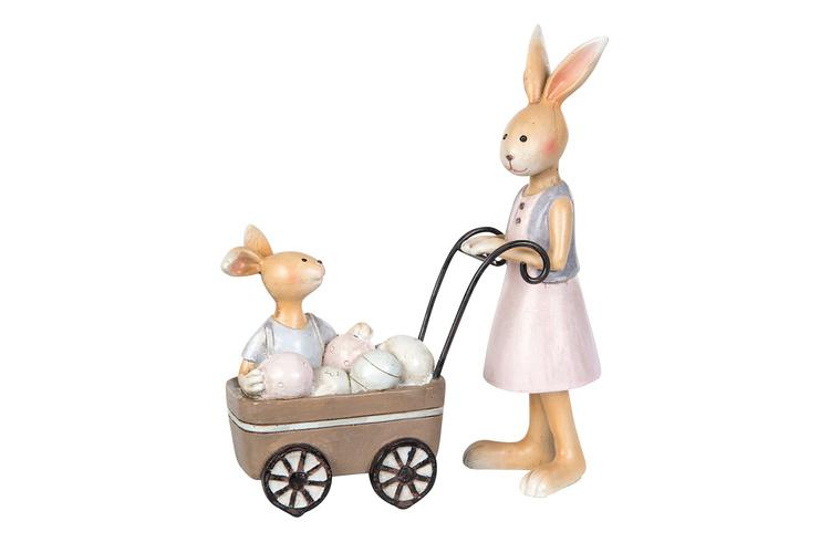 Kaninmamma med barnvagn