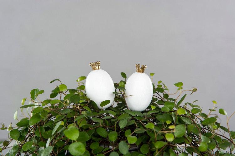 Ägg med krona/stick
