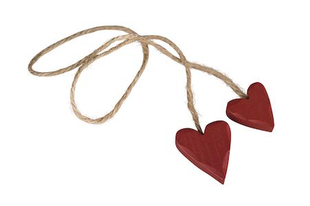 Trähjärta på rep