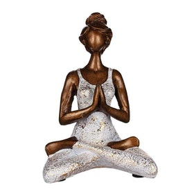Yoga kvinna vit/guld