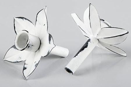 Kronljushållare vit