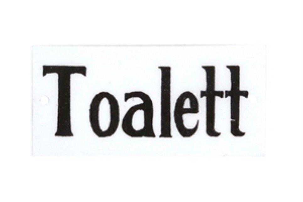 Toalett skylt