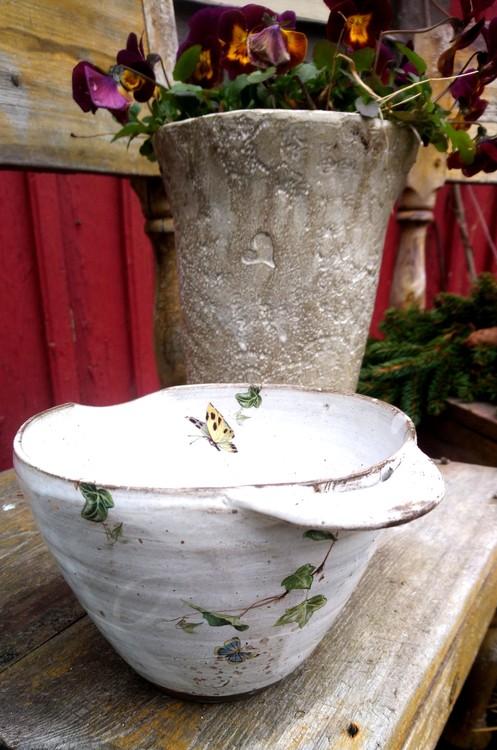 Julrosor & Fjärilar Vispskål