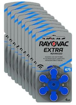 10 Pack Rayovac 675 BLÅ