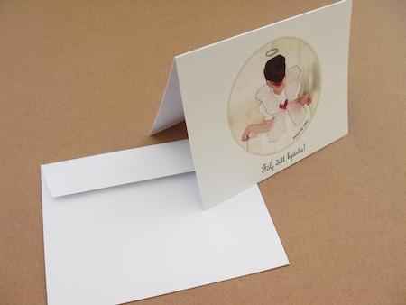"""Exklusivt DUBBELT kort """"Följ ditt hjärta""""! inkl. kuvert"""