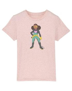 T-shirt med superhjälten Alma (Ljusrosa)