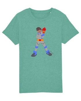 T-shirt med superhjälten Zion (ljusgrön)