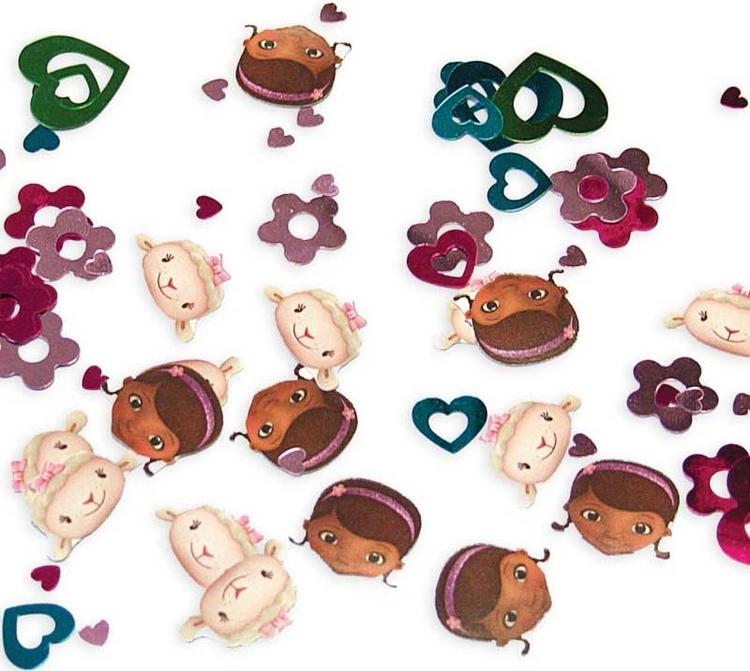 Doc mcstuffins konfetti för dekoration eller pyssel. Kalastema Doc Mcstuffins.