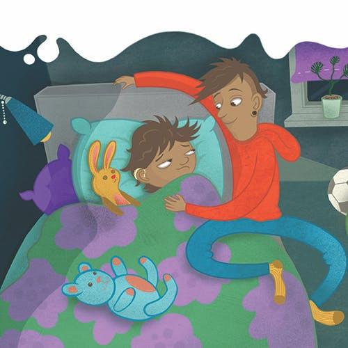 Barnbok På rymmen - jagad av mamma polis! från Olika förlag. Författare Jonna Kilstam, Illustratör Johanna Arpainen. Mångfald bland karaktärerna där barn med mörk hy är representerade, mixade barn och