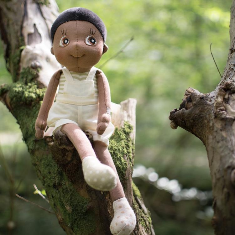 Rubens Ecobuds Fern, en mjuk docka för de minsta barnen tillverkade av ekologiskt material från varumärket Rubens Barn.
