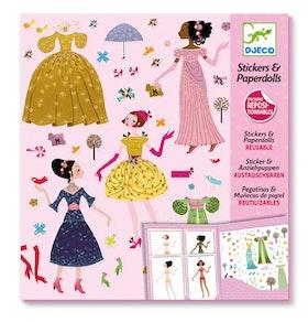Pappersdockor & Klistermärken (Dresses through the seasons)