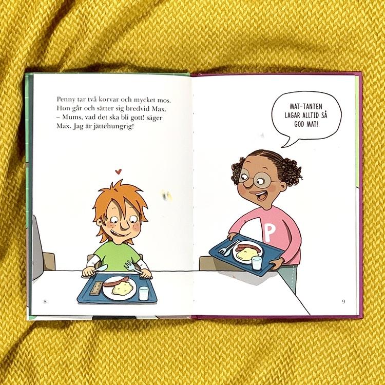Lätt att läsa bok: Mat-mysteriet med Skoldeckarna. Mångfald bland karaktärerna där barn med mörk hy är representerade. Författare Lena Lilleste, Illustratör Lena Forsman, Rabén & Sjögren förlag.