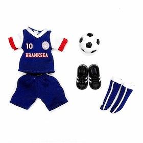 Branksea united fotbollskläder (tillbehör Lottie-serien)
