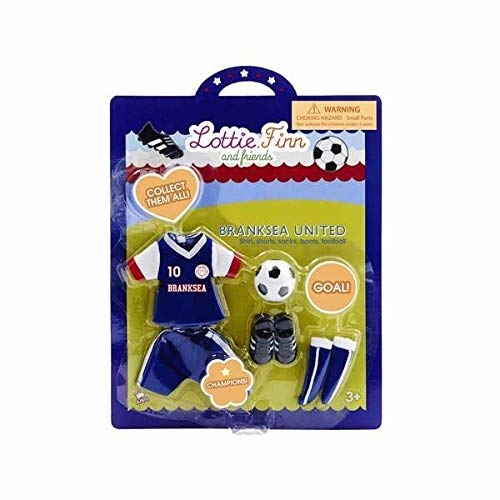 Tillbehör till Lottie-dockorna, Branksea united fotbollskläder från varumärket Lottie (Super Lottie). Fotbollskläder till dockor.