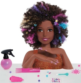 Barbie Sparkle Delux Styling head - Afro hair