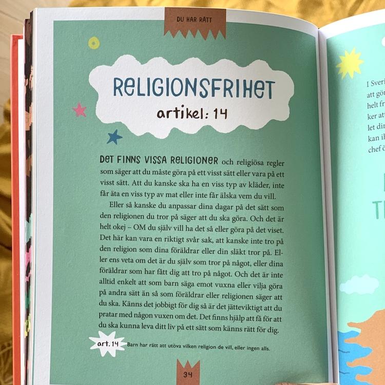 Boken Du har rätt, om barn rättigheter och barnkonventionen. Författare Matilda Westerman och Jason Dimbuktu Diakité.