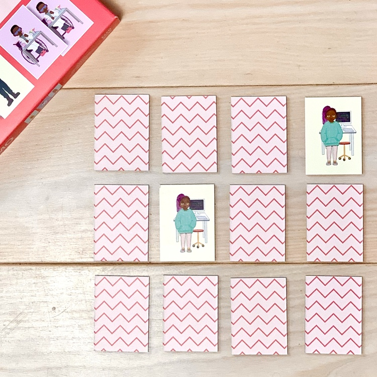 Memo spel olika yrken, ett inkluderande spel för alla barn. Svanenmärkt spel.