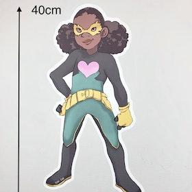 Wall sticker Superhjälten Alma (40 cm hög)