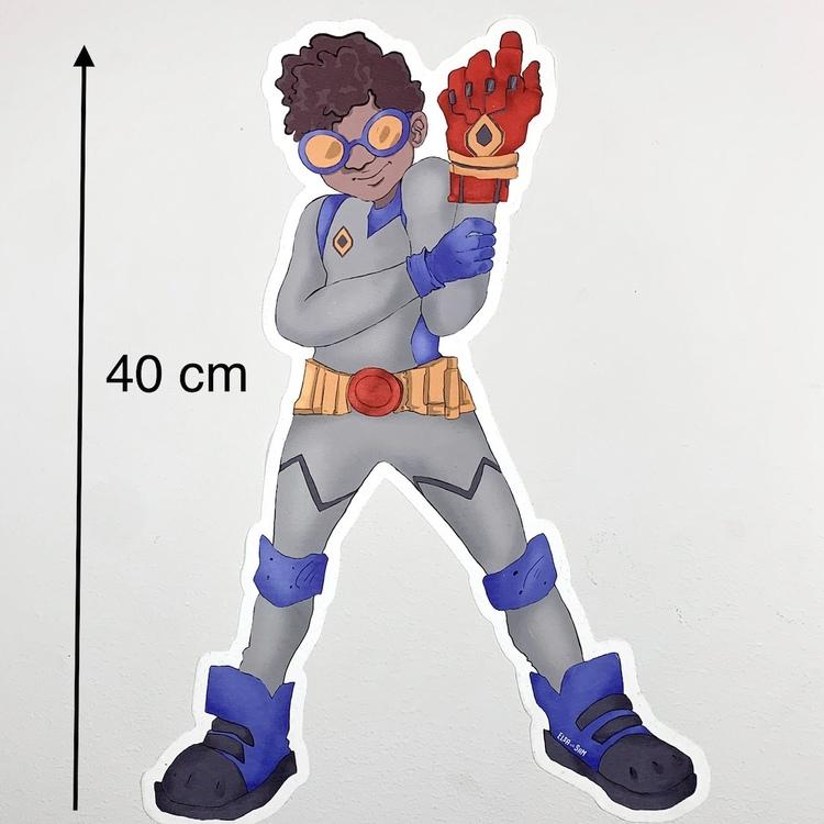 Wall sticker Superhjälte  Zion (40 cm hög)
