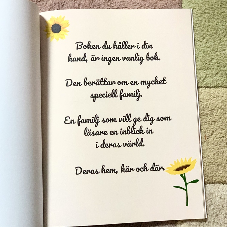 Hemma - här och där, en barnbok om Sverige och Gambia som hylla mångfald och olika kulturer. Författare Emily Joof.