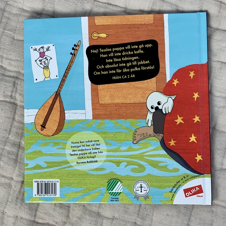 Tesslas pappa vill inte, en rolig bok om trotsålders, en bok som visar mångfald från Olika förlag.