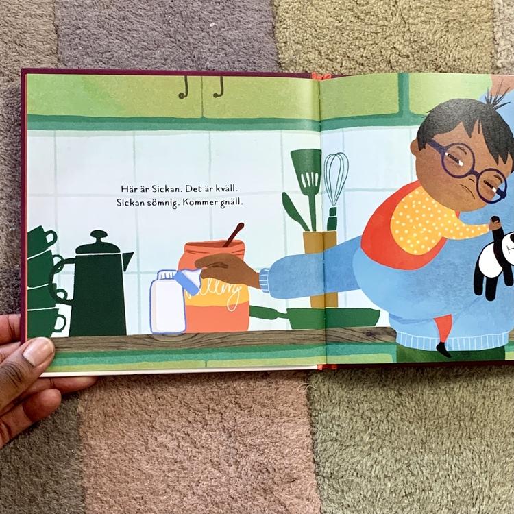 Sov nu, Sickan. En rolig bok för de minsta om ett barn som inte vill gå och lägga sig. En inkluderande barnbok för barn mellan 1 - 3 år.