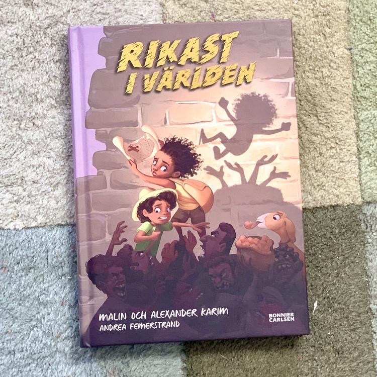En inkluderande kapitelbok för barn. Boken rikast i världen är en uppföljning på boken Modigast i värden av författarna Alexander Karim och Malin Karim. En bra bok från ca 6 år.