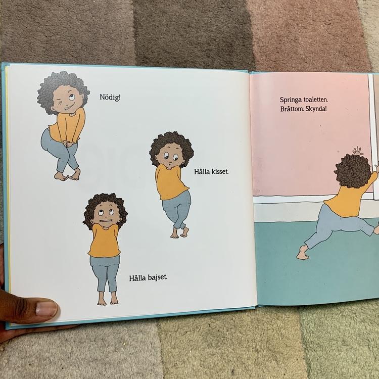 En rolig bok om potträning, en perfekt bok att läsa med ett barn som ska sluta med blöjan.