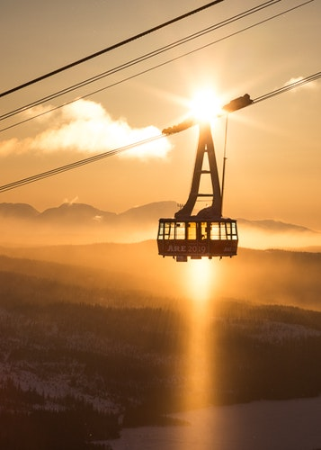 Åre Cable Car Trätavla
