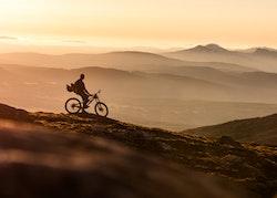 Downhill Biker Poster