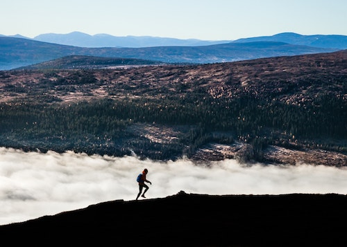 Running Above Clouds Poster