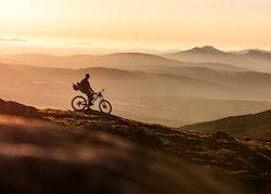 Downhill Biker Canvas