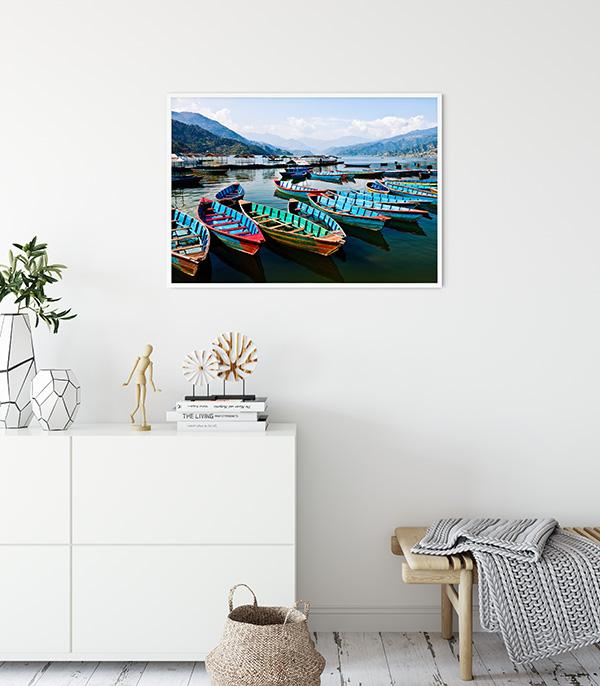 Pokhara Boats Poster
