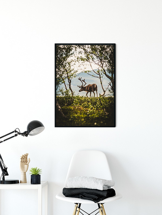 A Friend with Antlers Poster