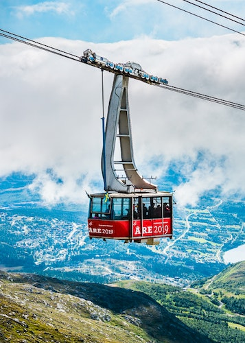 Åre Cable Car Summer Vertical Poster