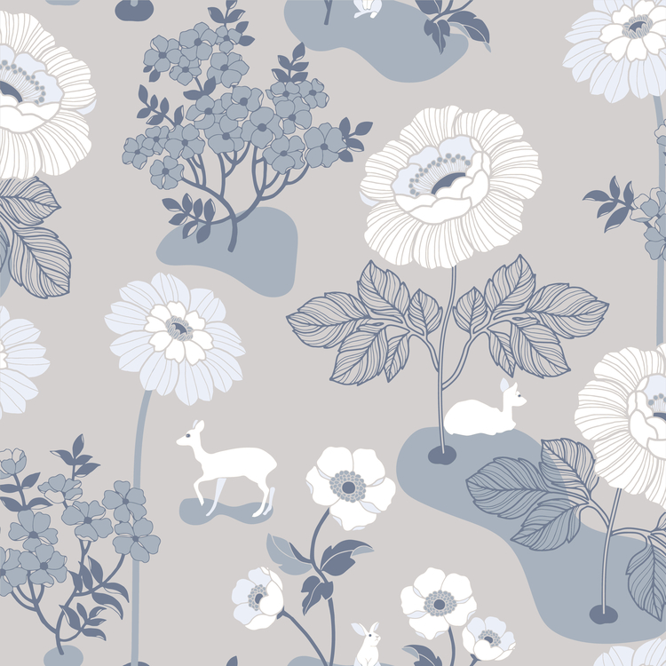Blomsteräng Grå