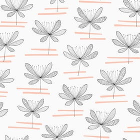 Water Lily Vit / rosa