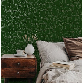 Linear Visage Green / Gold