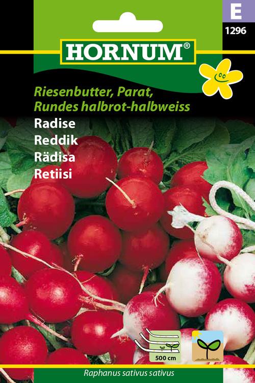 "Rädisa ""Riesenbutter, Parat, , Rundes halbrot-Halbweiss"""