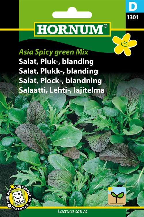 "Asiatisk mix, plock sallad ""Asia spicy green mix"""