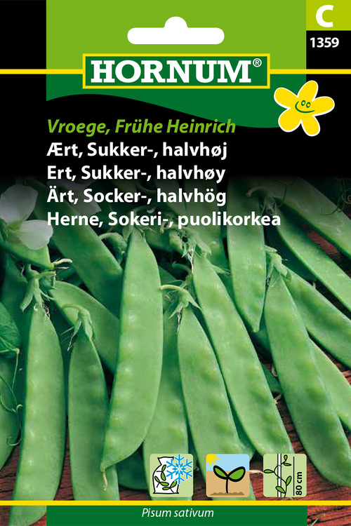 """Sockerärt - Halvhög """"Vroege, Frühe Heinrich"""""""