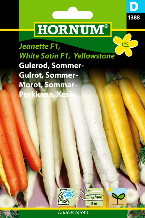 "Sommarmorrot ""Jeanette F1, White Satin F1, Yellowstone"""